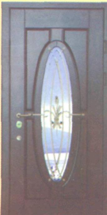 входная дверь с зеркальным стеклом